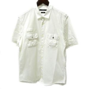 GUCCI グッチ 半袖ミリタリーシャツ メッシュ 40 ホワイト【中古】|lucio