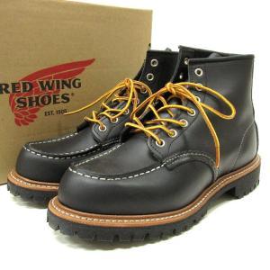 RED WING レッドウィング 8176 Classic Work 6inch Moc-toe Lug-sole モックトゥブーツ ラグソール 7E 25cm ブラック レッドウイング【中古(極美品)】|lucio