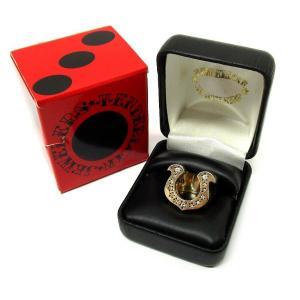 TENDERLOIN テンダーロイン  T-H.S RING GOLD/STONE ダイヤ 8K ホースシューリング 10号 K8【中古】 lucio