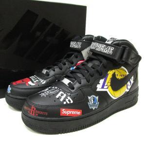 18SS Supreme Nike NBA Teams Air Force 1 Mid Black 27.5cm US9.5 AQ8017-001 黒 シュプリーム スニーカー ナイキ|lucio