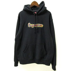 18SS Supreme シュプリーム Gonz Logo Hooded Sweatshirt パーカー M ブラック 黒 Black【中古】|lucio