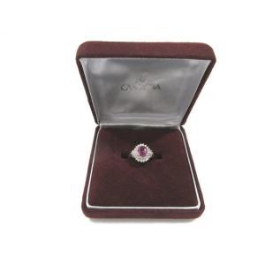 美品 ジュエリーマキ カメリア リング 指輪 レディース ピンクサファイア プラチナ ダイヤ size 13 中古 lucio