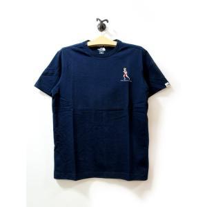 送料無料 THE NORTH FACE WHITE LABEL ノースフェイス Tシャツ メンズ コットン DELANO 刺繍 紺 size S 日本未発売 lucio