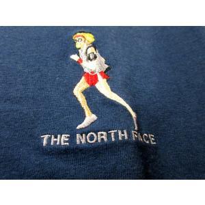 送料無料 THE NORTH FACE WHITE LABEL ノースフェイス Tシャツ メンズ コットン DELANO 刺繍 紺 size S 日本未発売 lucio 04