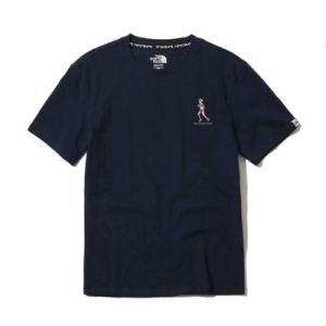 送料無料 THE NORTH FACE WHITE LABEL ノースフェイス Tシャツ メンズ コットン DELANO 刺繍 紺 size XL 大きいサイズ 日本未発売 lucio