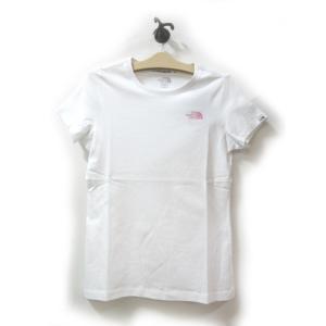 送料無料 THE NORTH FACE WHITE LABEL ノースフェイス Tシャツ レディース コットン W'S NUPTSE ハーフドーム プリント 白 size M 日本未発売 lucio