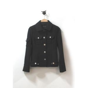 美品 ジョイアス コート ジャケット レディース アンゴラ ショート丈 紺 サイズ M 中古|lucio