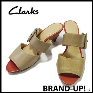 クラークス 靴 サンダル レディース レザー ベージュ サイズ 3 1/2 中古|lucio