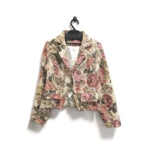 美品 サクラボイス ジャケット レディース ゴブラン織り ベージュ サイズ S 中古|lucio