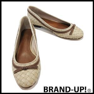 ヨークテラス 靴 シューズ レディース レザー フラット ベージュ サイズ 22.5 中古 未使用|lucio