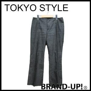 東京スタイル モザイク パンツ レディース デニム ストレッチ 黒 サイズ 9 中古|lucio