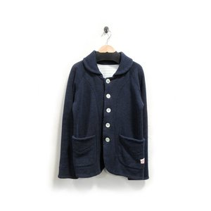 快晴堂 かいせいどう コート ジャケット レディース ジャージ 裏起毛 紺 2 中古|lucio