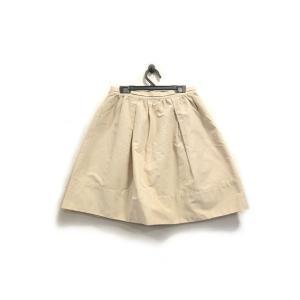 美品 ロペピクニック スカート 膝丈 ギャザー フレアー コットン ベージュ 38 中古|lucio