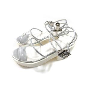 美品 ショッパホリック ワールド 靴 サンダル レディース 白 サイズ S 中古|lucio