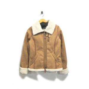 美品 アズノウアズ ピンキー コート ジャケット レディース B3 フェイクムートン 茶 M 中古|lucio