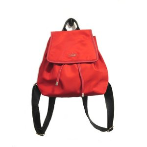 新品同様 ケイトスペード バッグ リュック レディース クラシックナイロン 軽量 赤 中古|lucio