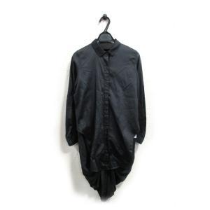 美品 ジェーエヌビーワイ センソユニコ マツオインターナショナル シャツ ワンピース レディース 黒 42 中古|lucio