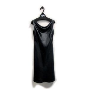 美品 セラヴィ ミレーヌ ドレス ワンピース レディース ロング サテン 黒 サイズ 9 中古|lucio