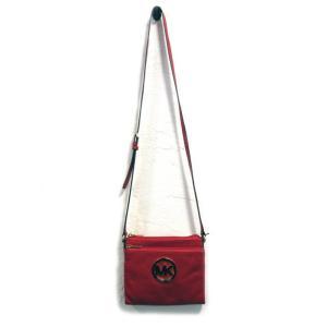 未使用 マイケルコース バッグ ショルダーバッグ 財布 レディース レザー 斜め掛け 赤 中古|lucio