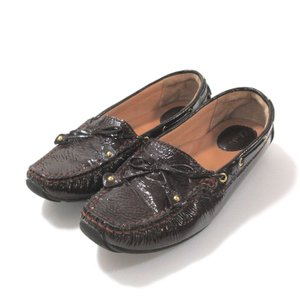 美品 クラークス 靴 シューズ レディース パテントレザー サイズ 23.5cm ワイン 中古|lucio