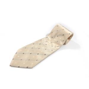 美品 クリケット ネクタイ シルク メンズ 小紋柄 ベージュ イタリア製 中古|lucio