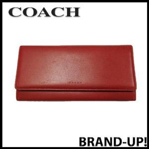 COACH コーチ 財布 長財布 レディース カーフ レザー ウォレット 赤 中古|lucio