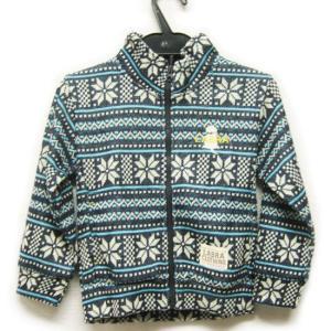 Labra ラブラ  ニット セーター ジャケット カーディガン ジップ 雪柄 子供服 男の子 女の子|lucio