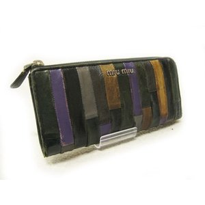 ミュウミュウ miu miu 長財布 ラウンドファスナー マルチカラー 5M1183|lucio