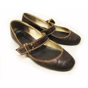 フィン FIN 靴 パンプス 革 ラウンド 茶 23.5 低反発中敷|lucio