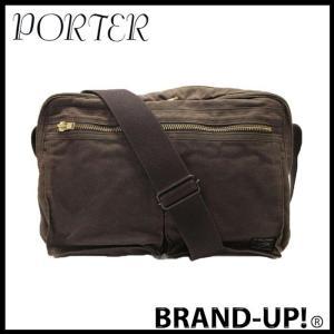 PORTER ポーター バッグ ショルダーバッグ メンズ 斜めがけ デュアル 茶 634-06311 中古|lucio