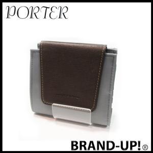 PORTER ポーター 財布 二つ折り B印 YOSHIDA グレー メンズ【中古(未使用)】|lucio