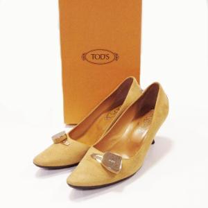 トッズ 靴 パンプス レディース スエード ベージュ サイズ 37 中古|lucio