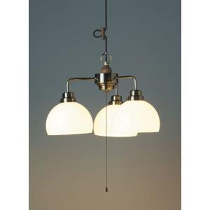 レトロ&モダンインテリアに! 明治28年創業後藤照明 GLF-3360 オリオン(鉄鉢・3灯用CP型BR) 60Wホワイトシリカ球付x3  (glf3360)|luciva