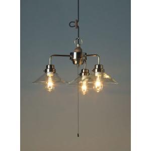レトロ&モダンインテリアに! 明治28年創業後藤照明 GLF-3376X バルゴ(透明P1・3灯用CP型BR) 電球なし (glf3376x)|luciva