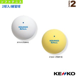 『2球入』ケンコーソフトテニスボールスタンダード/練習球(TSSW-V/TSSY-V)