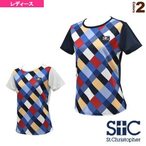 ブロックチェック ゲームTシャツ/レディース(STC-AGW6033)