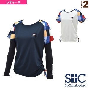 ブロックチェック ゲームTシャツ/アームカバー付/レディース(STC-AGW6035)
