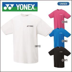 ヨネックス YONEX 半袖 ドライ Tシャツ ワンポイント 16400 メンズ レディース|lucksports