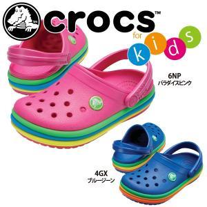 セール40%OFF クロックス  crocs キッズ クロックバンド レインボー バンド クロッグ 205205 国内正規品 lucksports