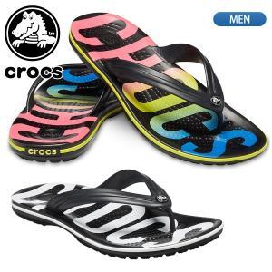 クロックス crocs クロックバンド プリンテッド フリップ  メンズ 205943 国内正規品|lucksports