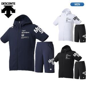 セール40%OFF デサント DESCENTE Move Sport ムーブスポーツ サンスクリーン クロス 半袖 パーカー ハーフパンツ DMMNJF18 DMMNJG18|lucksports