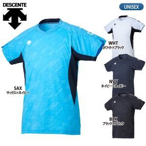デサント DESCENTE バレーボールウェア 半袖 プラクティスシャツ メンズ DVB-5928|lucksports