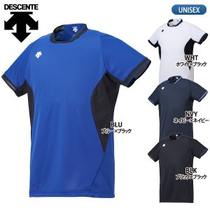 デサント DESCENTE バレーボールウェア 半袖 プラクティスシャツ メンズ DVB-5929|lucksports