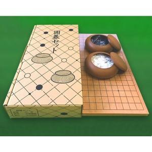 囲碁セット 囲碁盤セット19路 囲碁盤と碁石のセット 囲碁用品 いご イゴ 初心者 練習用に|lucky-merci