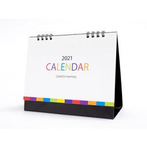 2019年カレンダー カラフルメモリー卓上カレンダー 100個販売 ノベルティ 販促品 景品 粗品 記念品 プレゼント