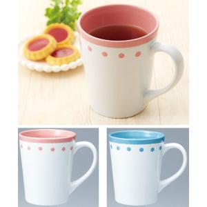 ドット マグカップ 48個販売 ケース販売 くつろぎの ティータイム ノベルティ 販促品 景品 粗品 記念品|lucky-merci