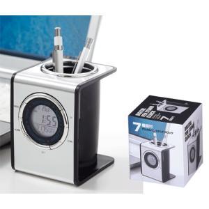 機能付デジタルペンスタンドクロック 1個440円 30個販売まとめ売り 販促品や景品・ノベルティ  デジタル時計 アラーム カレンダー 温度計|lucky-merci