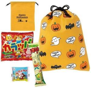 ハロウィン 景品 ハロウィン巾着おやつ3点セット 50個以上販売  お菓子ノベルティ ※代引不可