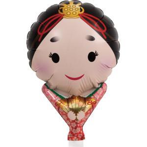 風船 ひなまつり おひなさま 紅和装 メッセージ柄 桃の節句 10枚セット販売 lucky-merci