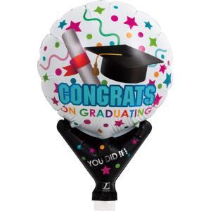 風船 アップライト丸 メッセージ柄風船 卒業おめでとう コングラッツ グラッドコンフェッティ 卒業祝い 10枚セット販売 lucky-merci